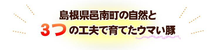 島根県邑南町の自然と3つの工夫で育てたうまい豚